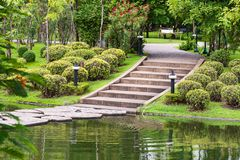 Pond in the park. Pond in a park in thailand Royalty Free Stock Image