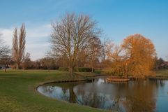 A pond in a park in Vordingborg Denmark Royalty Free Stock Photography
