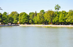 Pond in Parque del Buen Retiro Royalty Free Stock Images