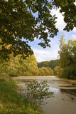 Pond, Poland. Pond in Poland (fall time Royalty Free Stock Photo