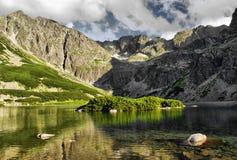 Pond in polish Tatra mountains Stock Photos
