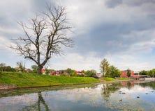 Poplavok Pond in Kaliningrad. Russia. Stock Images