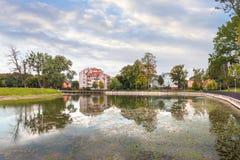 Poplavok Pond in Kaliningrad. Russia. Stock Photos