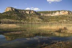 Pond in Range Park of Cuenca. Pond in town of Una, Range Park of Cuenca, Spain Royalty Free Stock Image