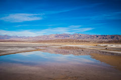Pond Reflecting Death Valley Mountains Royalty Free Stock Photography