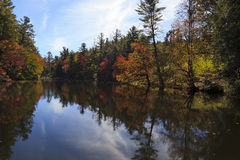 Pond Reflections. At Carl Sandburg Home in the Fall Royalty Free Stock Photography