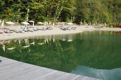 Pond and Rosa Beach. Rosa Khutor, Sochi, Krasnodar Krai, Russia, �� Stock Images