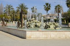 Pond in Saint Peter of Alcantara Stock Photos