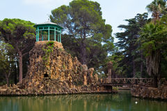 Pond in Sama Park, Spain Royalty Free Stock Images