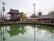 Pond in Shitennoji buddhist temple in Osaka, Japan Stock Images