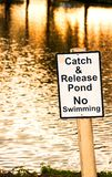 Pond Sign Royalty Free Stock Photos