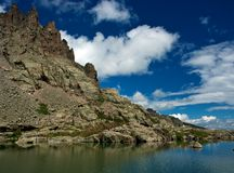 Pond of Spires. Sky pond, Rocky Mountain National Park, Colorado Royalty Free Stock Images