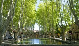 Pond square in Cucuron village Royalty Free Stock Photo