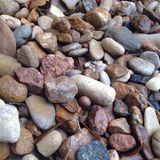 Pond stone. Wet pond stones Stock Images
