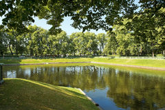 Pond in the Summer Garden, Saint Petersburg, Russia Stock Photos