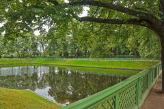 Pond in the Summer Gardens park in Saint-Petersburg Royalty Free Stock Photography