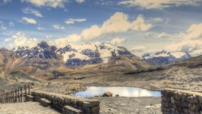 Pond surrounded by Andes Mountains Royalty Free Stock Image