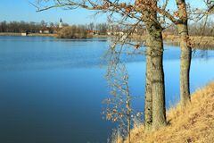 Pond Svet in Trebon. The fishpond Svet in Trebon, Czech Republic Royalty Free Stock Image