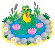 Pond theme image 1 stock illustration
