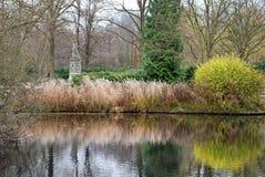 Pond at Tiergarten, Berlin. Tiergarten (German for Animal Garden) is a large park in the centre of Berlin Royalty Free Stock Image
