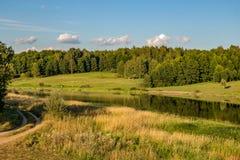 Pond in the village Velichkovo, Russia royalty free stock image