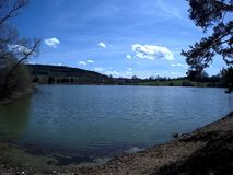 Pond. Walk through the spring landscape stock photos