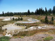 Pond in Yellowstone stock photos