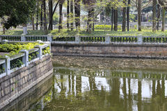 Pond of zhongshan park Stock Photo