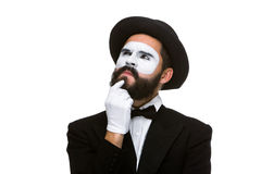 Ponderer mime Stock Photography