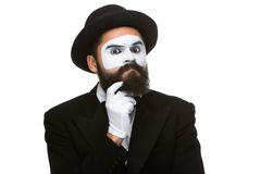 Ponderer mime Royalty Free Stock Photography