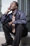 Pondering businessman Stock Image