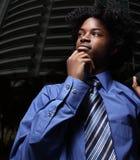 Pondering businessman Stock Photography
