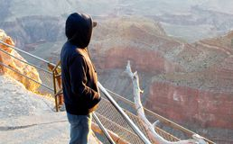 Pondering The Grand Canyon Royalty Free Stock Photography