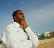 Pondering Man Stock Photography