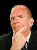 Pondering o homem de negócios fotos de stock royalty free