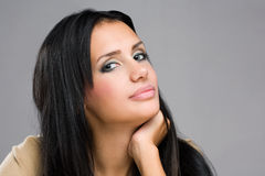 Pondering young beauty. Royalty Free Stock Images