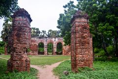 Pondicherry, Índia - 30 de setembro de 2017: Vila de Arikamedu em Pondicherry, Índia fotografia de stock