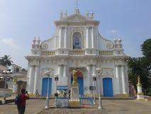 Pondicherry, белый городок, французская архитектура стоковые фото