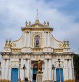 Церковь Pondicherry в Индии стоковые фотографии rf