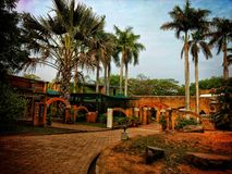 Pondicherry Auroville royaltyfri fotografi
