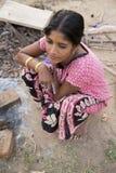 Pondicherry country, India - June 15 2014. Gipsy camp Stock Photos