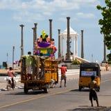 pondicherry festivalganesh Arkivbilder