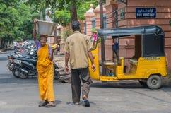 Auto rickshaw on the street in Pondicherry, India Royalty Free Stock Photo