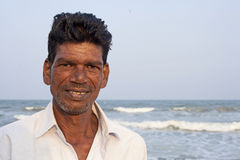 Indian fisherman after fishing Stock Photo
