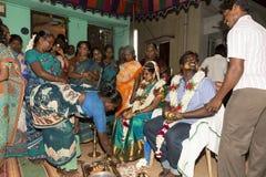 Pondicherry, Tamil Nadu, India - 11 maggio 2014: cerimonia di puja Fotografia Stock Libera da Diritti