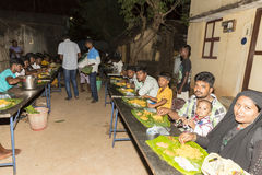 Pondicherry, Tamil Nadu, Indien - 11. Mai 2014: puja Zeremonie Stockfoto