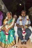 Pondicherry, Tamil Nadu, la India - 11 de mayo de 2014: ceremonia del puja Fotografía de archivo libre de regalías