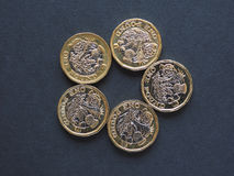 1 pondmuntstuk, het Verenigd Koninkrijk Royalty-vrije Stock Foto