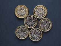 1 pondmuntstuk, het Verenigd Koninkrijk Stock Foto's