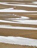 Ponds at the beach. A number of ponds form an abstract pattern at a beach in Ireland royalty free stock images